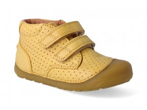 barefoot kotnikova obuv bundgaard petit velcro perft mustard 3