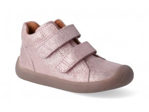 barefoot kotnikova obuv bundgaard walk velcro pink grille 3