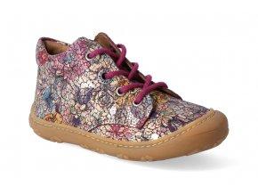 barefoot kotnikova obuv ricosta pepino happy merlot m 4