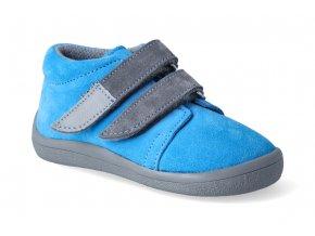 barefoot kotnikova obuv s membranou beda tom grey 2