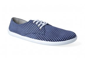 barefoot polobotky be lenka city dark blue with white dots 2