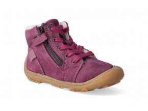 Barefoot zimní obuv Ricosta - Pepino Enno merlot W