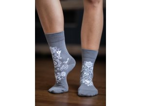 barefoot ponozky folk sive 4287 size large v 1