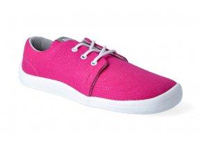 barefoot tenisky beda pink shine textilni tkanicka 3