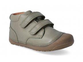 barefoot kotnikova obuv bundgaard petit velcro army 3