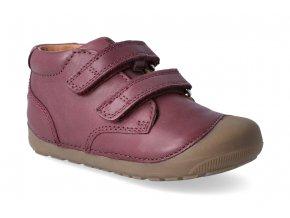 barefoot kotnikova obuv bundgaard petit velcro plum 2