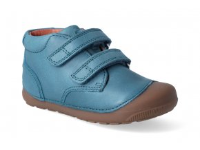 barefoot kotnikova obuv bundgaard petit velcro petrol 3