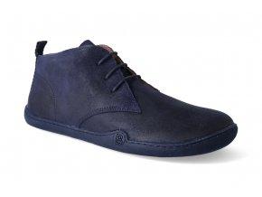 barefoot kotnikova obuv blifestyle classicstyle bio wax blue 2