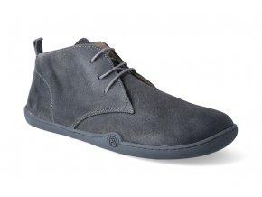 barefoot zimni kotnikova obuv blifestyle classicstyle bio wax fleece grey 2