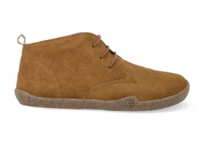 barefoot zimni kotnikova obuv blifestyle classicstyle bio wax fleece brown 3