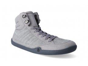 barefoot kotnikova obuv blifestyle urbanstyle micro textile grey 9