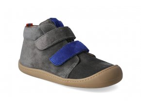barefoot kotnikova obuv koel4kids plus velour carbon royal 3
