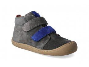 barefoot kotnikova obuv koel4kids plus velour carbon royal 3