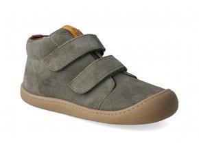 barefoot kotnikova obuv koel4kids plus velour olive 2