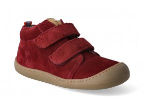 barefoot kotnikova obuv koel4kids plus fleece velour bordeaux 3