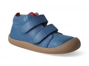 barefoot kotnikova obuv zateplena koel4kids plus fleece nappa blue 3