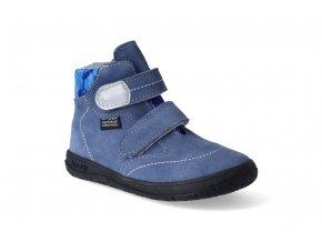 Barefoot kotníková obuv s membránou Jonap - B3 modrá slim