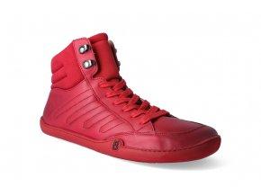 barefoot kotnikova obuv blifestyle urbanstyle nappa red 3