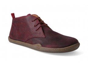 barefoot kotnikova obuv blifestyle classicstyle bio wax cranberry 2