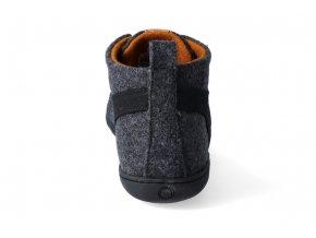 Barefoot kotníková zimní obuv Mukishoes - High-cut Coal