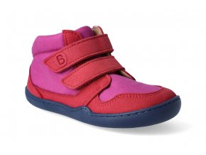 barefoot kotnikova obuv blifestyle loris velcro pink berry 2