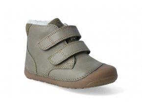 barefoot zimni obuv bundgaard petit mid winter army 2