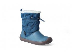 barefoot zimni obuv s membranou bundgaard walker pull tex petrol 2