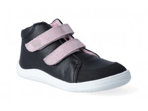 barefoot kontikova obuv s membranou baby bare febo fall black pink asf 3