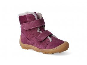 barefoot zimni obuv ricosta pepino eli merlot w 3