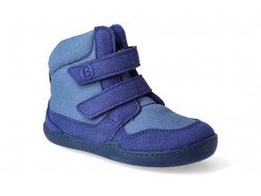 barefoot zimni obuv s membranou blifestyle eisbar wool velcro ocean sky 3