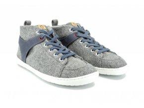 Barefoot kotníková zimní obuv Mukishoes - High-cut Ash