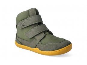 barefoot zimni obuv s membranou blifestyle eisbar wool velcro moosgrun 3