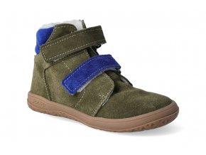 Barefoot zimní obuv s membránou Jonap B4SV khaki 3