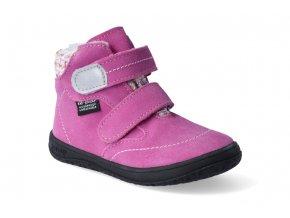 barefoot zimni obuv s membranou jonap b5sv ruzova 3