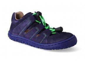 barefoot sandalky lurchi nathan modra 3