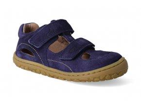 barefoot sandalky lurchi nando modra 2