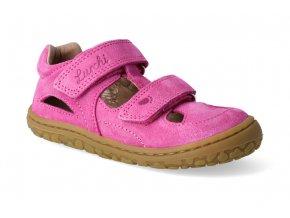 barefoot sandalky lurchi nando ruzova 3