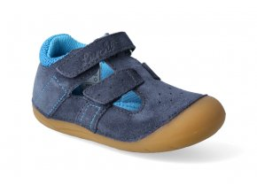 barefoot sandalky lurchi fioli suede navy 2