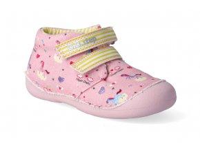 textilni kotnikova obuv d d step c015 822 pink 2