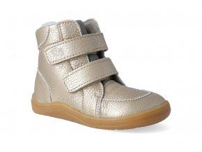 barefoot zimni obuv s membranou baby bare febo winter gold 2