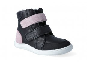 barefoot zimni obuv s membranou baby bare febo winter black sparkle 3
