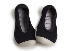 Barefoot ponožkoboty Collegien - Ballerines Noir De Charbon
