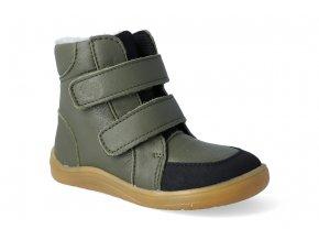 barefoot zimni obuv s membranou baby bare febo winter khaki asfaltico 2 2