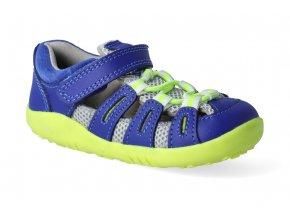 barefoot sandaly bobux summit blueberry neon step up 2