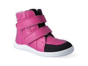 barefoot zimni obuv s membranou baby bare febo winter fuchsia asfaltico 3