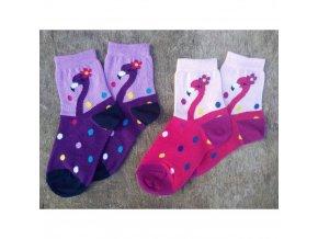 detske vesele ponozky emilka fialova