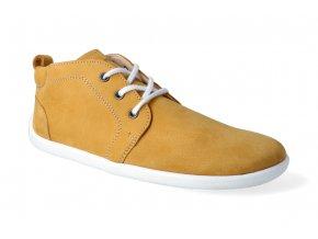 barefoot kotnikova obuv be lenka icon mustard white 4