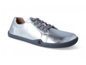 barefoot tenisky blifestyle groundstyle nappa silver 2