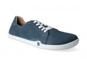barefoot tenisky blifestyle groundstyle nubuk petrol blue 2