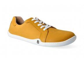 barefoot tenisky blifestyle groundstyle nubuk mustard 3
